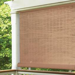 Cordless Roll Up Blind Shade In/Outdoor Patio Deck UV Protec