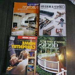 Do It Yourself Books Decks, Cabinets, Carpentry, Kitchens