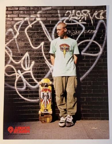 mike vallely skateboard deck ad heavy stock