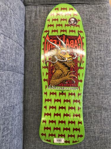 skateboard deck caballero dragon lime re issue