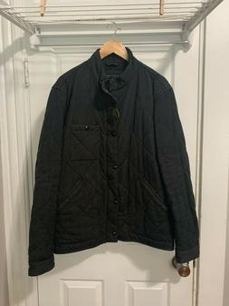 Men's J.Crew Sussex Quilted Jacket Size L Gray Charcoal Deck