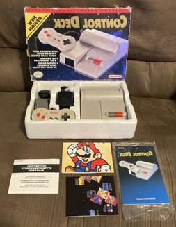 Official Nintendo Nes Top Loader Control Deck Console Comple