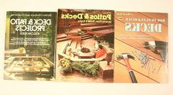 Patios & Decks 3 Book Lot How to build Projects Home Improve