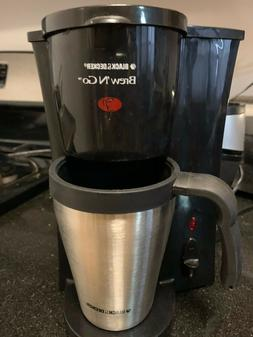 PRE-OWNED BLACK AND DECKER BREW 'N GO COFFEE MAKER 1 CUP TRA