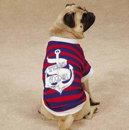 Salty Dog T-Shirt Tee Blue East Side Collect Top Pet  Nautic