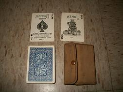 WW1 Deck of Playing Cards BICYCLE 808 Blue Acorn Back w Army